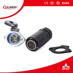 Ya-20 Waterproof Power Connector with 4pins pictures & photos