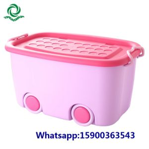 Children′s Cartoon Plastic Storage Bin Cloth Lockers with Lid pictures & photos