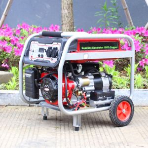 Bison (China) BS2500e High Quality Round Frame 6.5HP Gasoline Generator pictures & photos