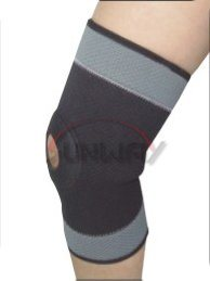 Breathable Neoprene Knee Brace Knee Support with Hole (NS0023) pictures & photos