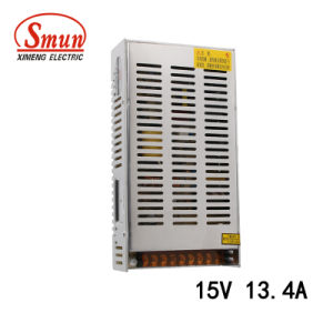 201W 15V 13.4A Single Output Switching Power Supply 215*115*50mm Size pictures & photos
