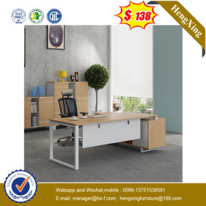 Silver Painting Modesty Panel Veneer Top Executive Office Desk (HX-G0451) pictures & photos