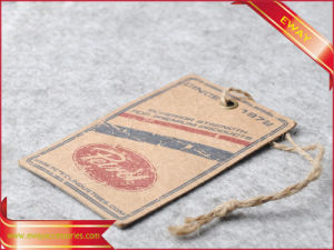 Hang Tag Hangtag Paper Tag for Garment (HT-EW-18) pictures & photos