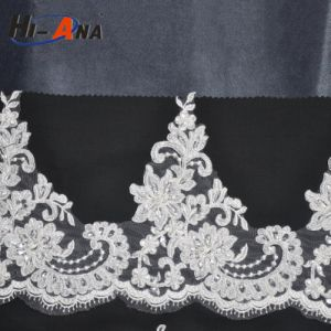 Custom Made Print Logo Good Price Hand Embroidery Beaded Lace pictures & photos