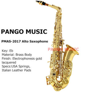 Pango Music Eb Key Alto Saxophone (PMAS-2017) pictures & photos