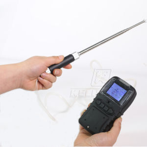 Ce Certified Battery Operated Portable Multi-Gas Detector Co O2 H2s CH4 4-Gas Analyzer