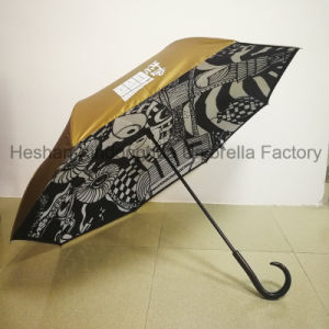Full Printing Customized Inverted Reverse Umbrella for Promotional Gift (SU-0023I) pictures & photos