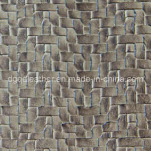 Woven Design Furniture Synthetic Leather (QDL-7008) pictures & photos