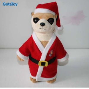 High Quality Custom Plush Toy Meetkat with Christmas Dresses Stuffed Soft Toy pictures & photos