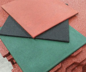 Any Color Recycled Rubber Tile, SBR Rubber Floor Tile pictures & photos