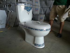 Very Competitive Price Two Pieces Twyford Ceramic Toilet for Africa and MID East pictures & photos