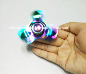 Hot Selling Metal Colorful Triangle Finger Spinner with Good Price pictures & photos