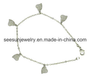 Heart Shape Bracelet in Sterling Silver Jewelry for Ladies pictures & photos