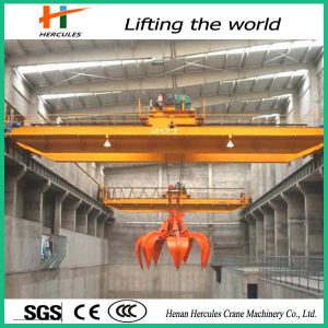Double Girder Overhead Travelling Crane with Grab pictures & photos