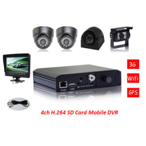 4 Channel 3G Live SD Mobile DVR with GPS, WiFi, Alarm System Mdvr pictures & photos