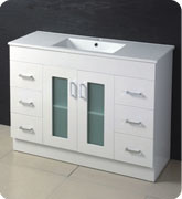 High White Gloss MDF Bathroom Cabinet with Size of 1200mm pictures & photos