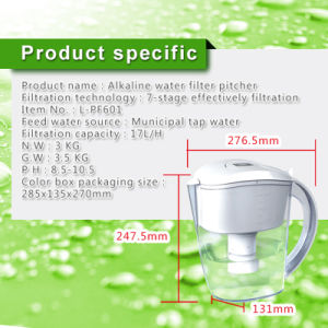 Shenzhen Wellblue Antioxidant Mineral Water Purifier with Chlorine Free for Home Use (L-PF601)