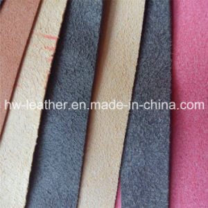 Real Microfiber PU Leather for Gloves Hw-565 pictures & photos
