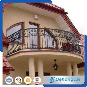 Factory Customized Crafted Security Galvanized Wrought Iron Balcony Fence Handrail pictures & photos