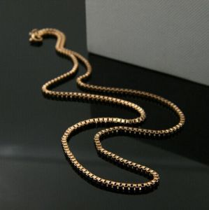 Gold/Siver Box Stainless Setel Chain for Fashion Necklace pictures & photos