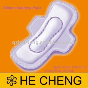 230mm Cheap Standard Sanitary Napkins with Wings for Women pictures & photos