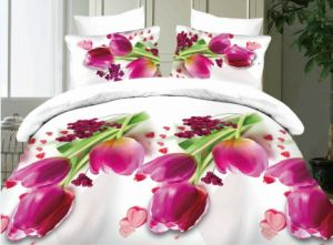 Elegant Flower Printing Colorful Magic Zhejiang Wholesale 3D Bedding Sets pictures & photos