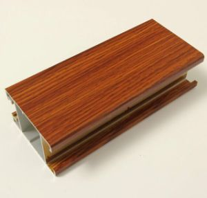 Classic Style Wood Grain Aluminium Profiles pictures & photos