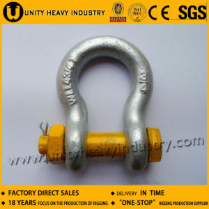 G 2130 U. S Bolt Safety Type Drop Forged Anchor Shackle pictures & photos