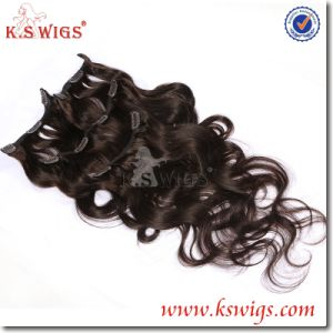 High Grade Clip Hair Extension Brazilian Remy Human Hair pictures & photos