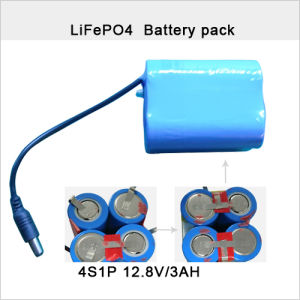 12.8V 3ah LiFePO4 Battery Pack pictures & photos