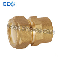 Brass Reduced Straight Double Coupling Pipe Fittings for PPR pictures & photos