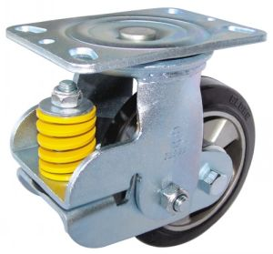 Shock Absorbing Type PU Caster Fixed/Swivel pictures & photos