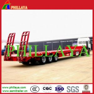 70t 3 Axles Low Loading Deck Lowbed Trailer pictures & photos