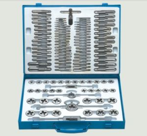 110PCS Alloy Steel Tap and Die Tapping Thread Hand Tool Set