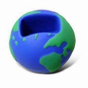 PU Foam Stress Toy in Globe Ball Mobile Phone Holder Design pictures & photos