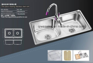 Stainless Steel Handmade Kitchen Sink (QW-109) pictures & photos