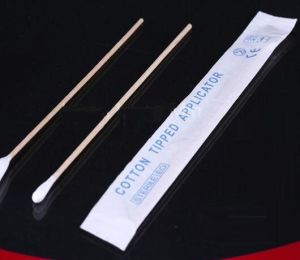 Disposable Sterile Wooden Cotton Applicator Stick for 150*22mm pictures & photos
