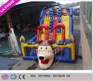 2015 Newest Giant Inflatable Bouncy Slide for with Double Slides (Lilytoys-New-042) pictures & photos