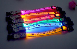 Factory Direct Sellinge Sailor Print LED Dog Collar