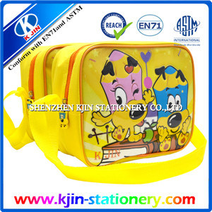 Kjin Stationery Yellow School Bag with Single Shoulder