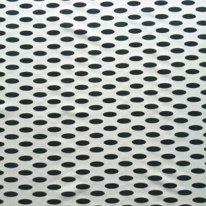 Back-Side Printed Elastic Silk Satin in Oval-Dots