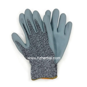 Foam Nitrile Coated Gloves Anti Cut Safety Work Glove pictures & photos