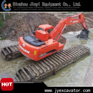 Middle Size Floating Cat Excavator with Undercarriage Pontoon Jyae-121