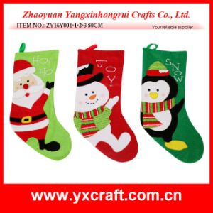 Christmas Decoration (ZY16Y001-1-2-3 50CM) Christmas Stocking Christmas Stocking Holders pictures & photos