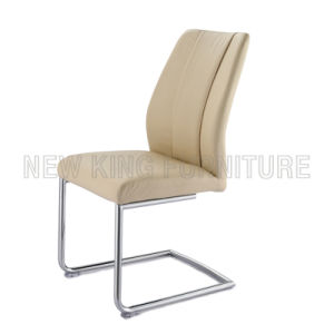 Modern Comfortable Chrome Steel Foot PU Leather Dining Chair (NK-DC039)