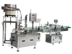 Automatic Liquid Packaging Line with Round Bottle Capping & Sealing pictures & photos