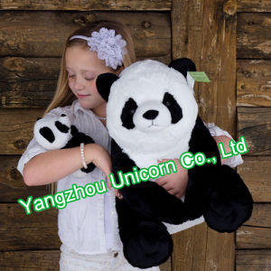 Soft Stuffed Animal Purple Panda Girl with Bow Plush Toy pictures & photos