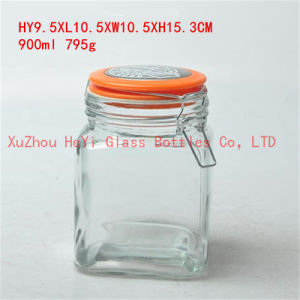 Big Food Glass Jar Storage Glass Jar 900ml