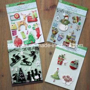 Customize 3D Dimensional Scrapbook Handmade Paper Stickers Christmas 3D Stickers pictures & photos