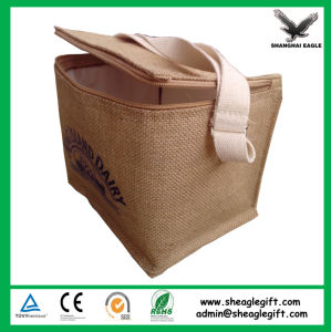 Custom Logo Printed Jute Cooler Bag pictures & photos